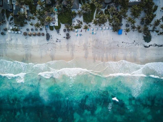 praia em tulum no mexico