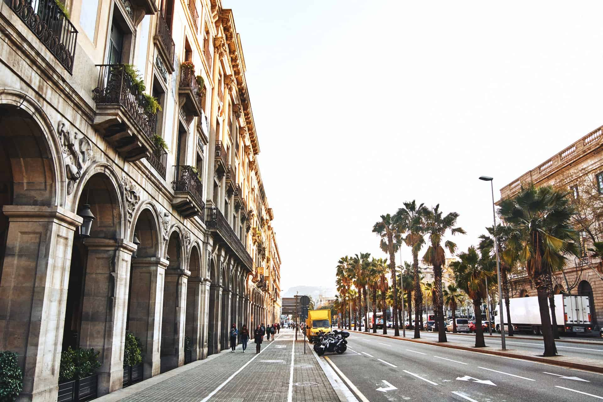 rua de barcelona em espanha