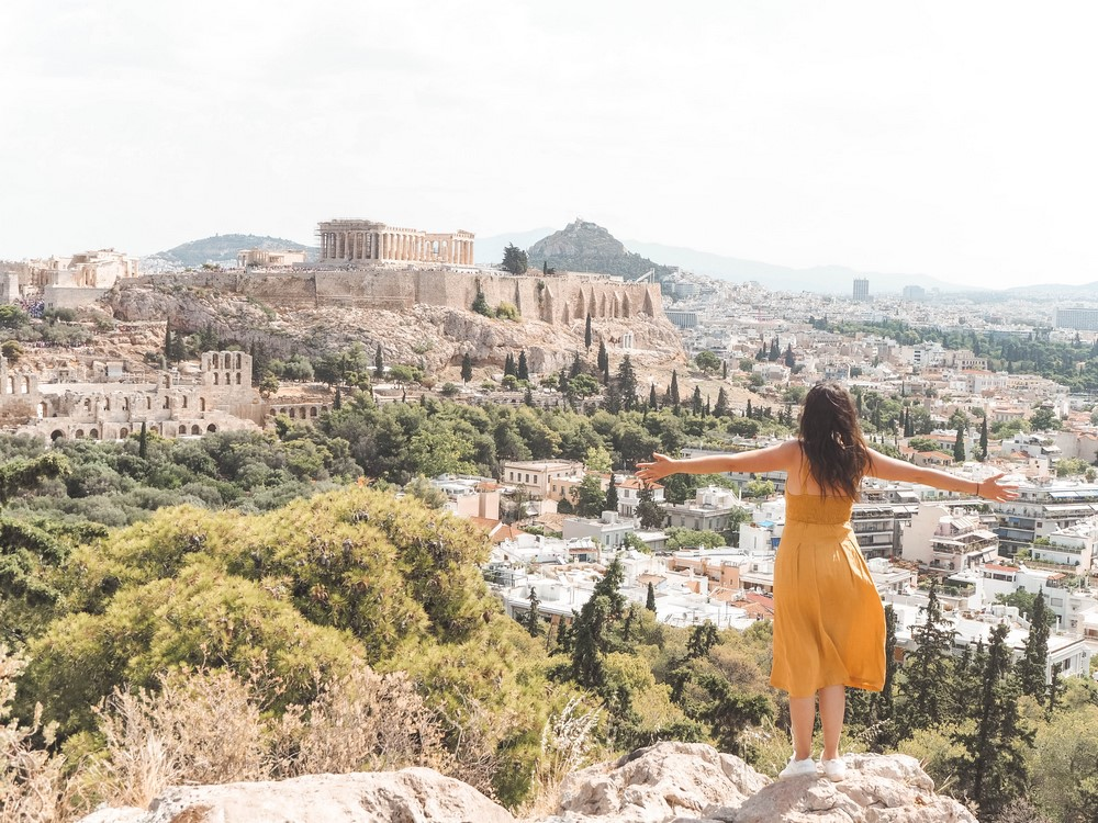 akropolis athen griechenland panorama
