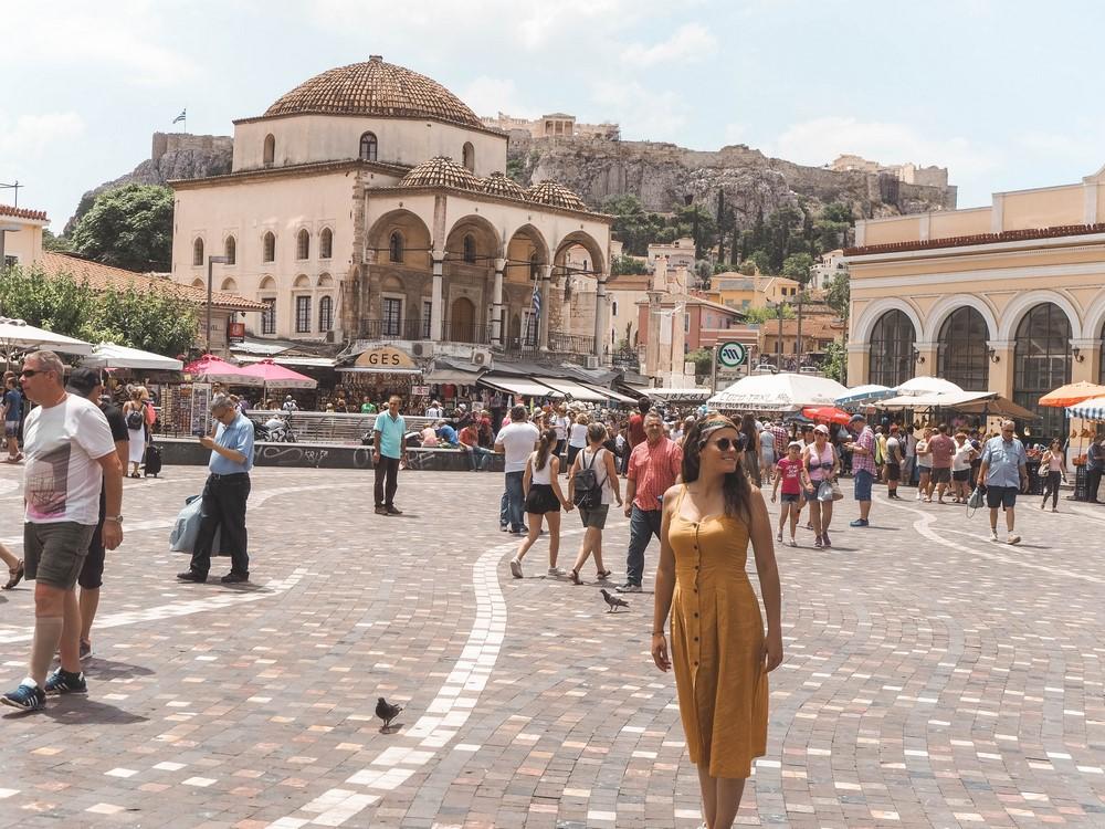 griechenland monastiraki platz athen