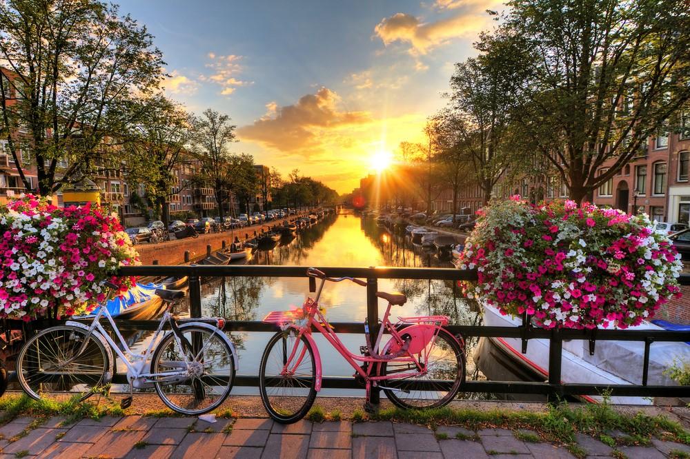 fahrrad amsterdam gracht reisen