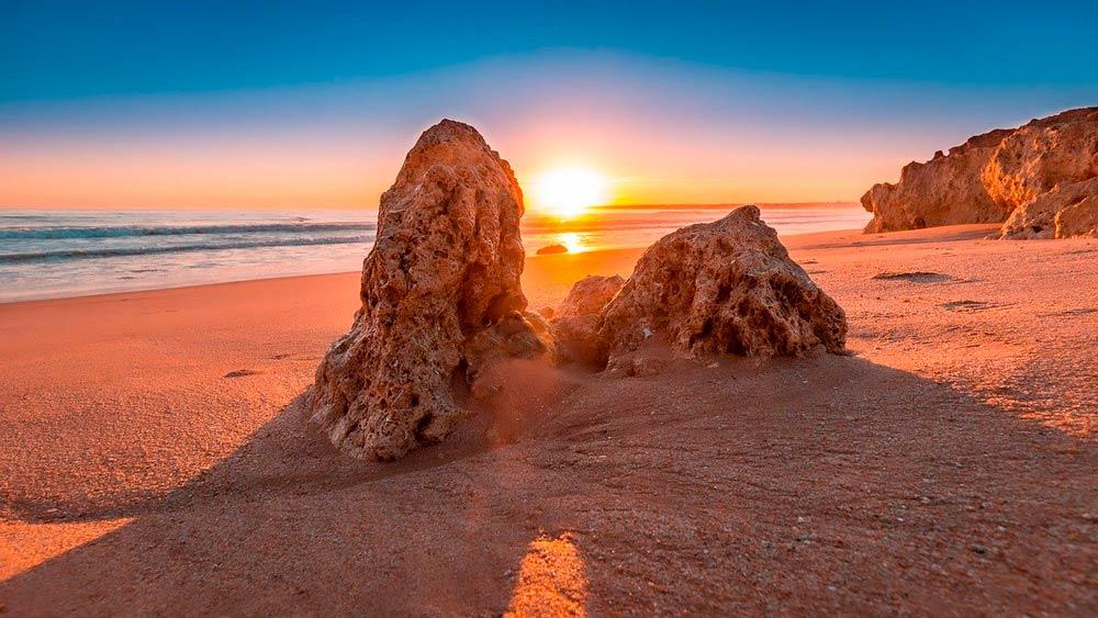 algarve portugal sonnenuntergang strand