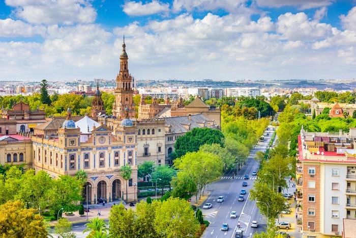 sevilla spanien panorama aussicht