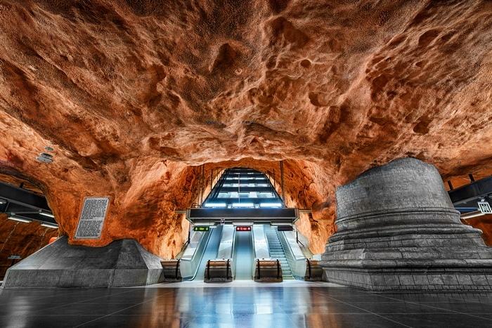stockholm metro untergrund sehenswürdigkeiten