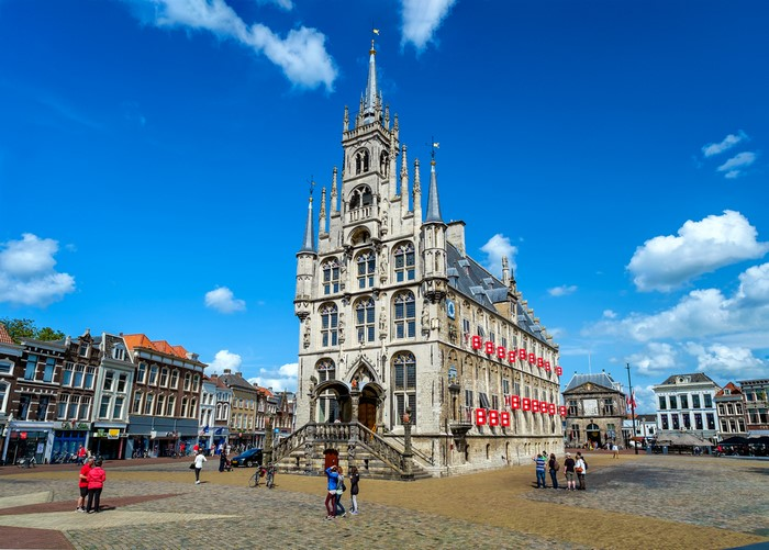 gouda marktplatz käse holland
