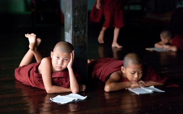 asien novizen lernen religion