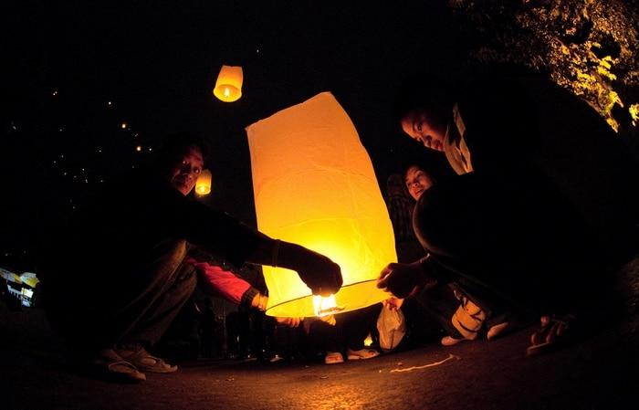 lichterfest asien nacht licht